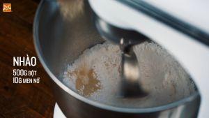 Đam Mê Ẩm Thực Cho-500g-bột-mì-đa-dụng-10g-men-nở-300ml-nước-25ml-dầu-Ôliu-10g-muối2