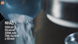 Đam Mê Ẩm Thực Cho-500g-bột-mì-đa-dụng-10g-men-nở-300ml-nước-25ml-dầu-Ôliu-10g-muối5