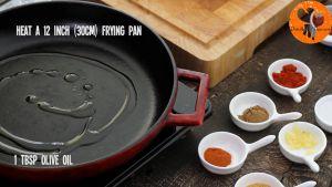 Đam Mê Ẩm Thực Cho-dầu-Ôliu-vào-chảo-30cm-đun-với-lửa-vừa