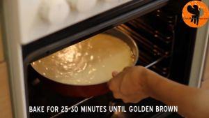 Đam Mê Ẩm Thực Sau-đó-cho-khuôn-vào-lò-và-nướng-25-30-phút-cho-đến-khi-lớp-vỏ-bánh-có-màu-vàng-nâu