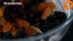 Đam Mê Ẩm Thực Thêm-hoa-quả-sấy-khô-hạt-óc-chó-thái-nhỏ-ở-bước-1-và-trộn-đều