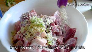 Đam Mê Ẩm Thực Thêm-tỏi-băm-hành-lá-băm-bột-nêm-muối-hạt-tiêu.-Trộn-đều-và-ướp-trong-30-phút3
