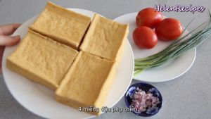 Đam Mê Ẩm Thực Cắt-đậu-phụ-vào-thành-từng-miếng-vuông-cỡ-3-ngón-tay-hoặc-cũng-có-thể-cắt-chéo-thành-hình-tam-giác