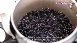 Đam Mê Ẩm Thực Cho-đậu-đen-1-cup-Đậu-đen-3-cup-Nước-vào-nồi-áp-suất.-Ninh-trong-15-20-cho-đến-khi-đậu-mềm2