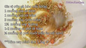 Đam Mê Ẩm Thực Cho-1-tbsp-sả-1-tbsp-tỏi-ớt-nước-nắm-đường-muối-vào-bát-và-trộn-đều5