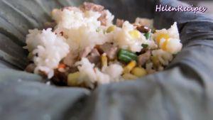 Đam Mê Ẩm Thực Cho-cơm-vừa-trộn-đều-vào-lá-Sen.-Gói-lại-và-hấp-trong-10-phút5