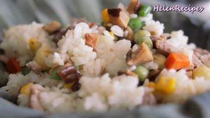 Đam Mê Ẩm Thực Cho-cơm-vừa-trộn-đều-vào-lá-Sen.-Gói-lại-và-hấp-trong-10-phút6