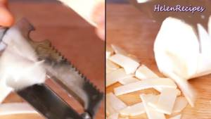 Đam Mê Ẩm Thực Phần-gốc-thì-chẻ-rồi-dùng-dao-2-lưỡi-cắt-mỏng-theo-chiều-ngang4