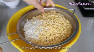 Đam Mê Ẩm Thực Sau-4-tiếng-trộn-đều-gạo-nếp-và-đậu-xanh-đã-ngâm-và-để-ráo-nước3