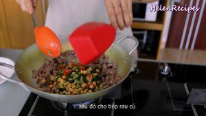 Đam Mê Ẩm Thực Thêm-1-cup-Rau-củ-đậu-đũa-cà-rốt-ngô-thái-hạt-lựu-12-số-hạt-sen-1-tsp-Bột-nêm-đã-luộc-và-đảo-đều
