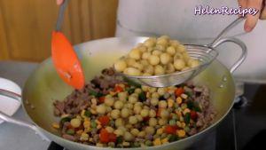 Đam Mê Ẩm Thực Thêm-1-cup-Rau-củ-đậu-đũa-cà-rốt-ngô-thái-hạt-lựu-12-số-hạt-sen-1-tsp-Bột-nêm-đã-luộc-và-đảo-đều2
