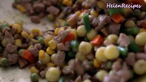 Đam Mê Ẩm Thực Thêm-1-cup-Rau-củ-đậu-đũa-cà-rốt-ngô-thái-hạt-lựu-12-số-hạt-sen-1-tsp-Bột-nêm-đã-luộc-và-đảo-đều6