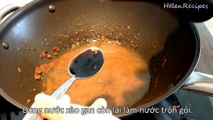 Đam Mê Ẩm Thực Thêm-12-Cup-Nước-2-3-tbsp-Nước-tương-Maggi-vào-Nước-xào-Gan-trong-chảo.-Khuấy-đều-và-đun-sôi-với-lửa-nhỏ-trong-1-2-phút2