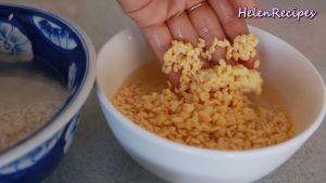 Vo-sạch-Gạo-nếp-và-Đậu-xanh-ngâm-nước-trong-4-tiếng