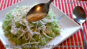 Đam Mê Ẩm Thực Xôi-chín-xới-ra-đĩa-rắc-dừa-nạo-và-mè-rang-lên-trên3