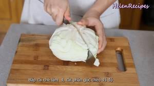Đam Mê Ẩm Thực Bắp-cải-chia-làm-4-phần-14-Bắp-cải-loại-bỏ-lõi-và-thái-sợi-nhỏ
