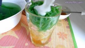 Đam Mê Ẩm Thực Cho-đá-viên-bánh-lọt-Nước-đường-tùy-khẩu-vị-Nước-cốt-dừa-và-cốc-và-hoàn-thành3-dammeamthuc.com_