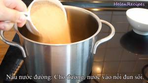 Đam Mê Ẩm Thực Cho-1-cup-Đường-Nâu-12-cup-Nước-120ml-vào-nồi-dammeamthuc.com_