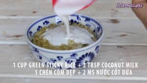 Đam Mê Ẩm Thực Cho-1-cup-Cốm-dẹp-2-tbsp-Nước-cốt-dừa-vào-bát-dammeamthuc.com_