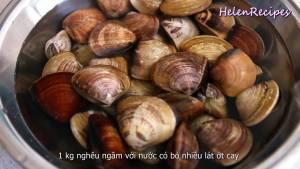 Đam Mê Ẩm Thực Cho-1-kg-Nghêu-Ngao-ngâm-nước