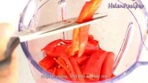 Đam Mê Ẩm Thực Cho-Cà-chua-cắt-nhỏ-Ớt-cắt-nhỏ-12-cup-Nước-vào-máy-và-xay-nhuyễn-dammeamthuc.com_