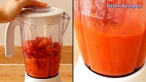 Đam Mê Ẩm Thực Cho-Cà-chua-cắt-nhỏ-Ớt-cắt-nhỏ-12-cup-Nước-vào-máy-và-xay-nhuyễn5-dammeamthuc.com_