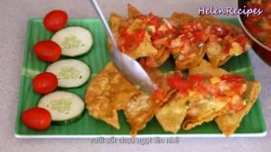 Đam Mê Ẩm Thực Cho-Há-cảo-Hoành-Thánh-ra-đĩa-rưới-đều-sốt-chua-ngọt-hạt-tiệu-và-dùng-với-vài-cốc-bia2