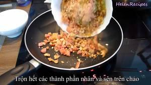 Đam Mê Ẩm Thực Cho-hỗn-hợp-nhân-vào-chảo-và-sên-đều-dammeamthuc.com_