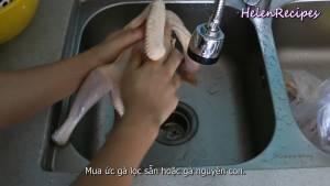 Đam Mê Ẩm Thực Làm-sạch-gà-xát-muối-và-gừng-rồi-xả-nước-thật-sạch2