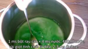 Đam Mê Ẩm Thực Sau-15-phút-cho-hỗn-hợp-Bột-rau-câu-2-cup-Nước-cốt-dừa-Vài-giọt-Tinh-dầu-lá-dứa3-dammeamthuc.com_