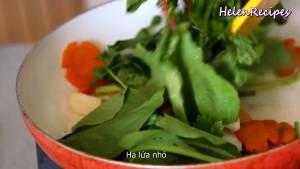 Đam Mê Ẩm Thực Sau-2-phút-cho-Cần-tây-và-rau-cải-vào-đảo-đều2
