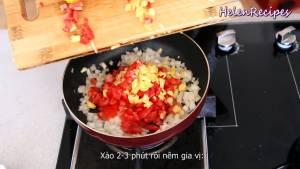 Đam Mê Ẩm Thực Thêm-Cà-chua-và-Dứa-Thơm-và-xào-trong-2-3-phút