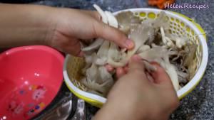 Đam Mê Ẩm Thực Chia-Nấm-thành-3-4-phần-rồi-vắt-ráo-nước-để-bát-riêng2-dammeamthuc.com_