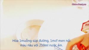 Đam Mê Ẩm Thực Cho-1-tsp-Đường-1-tsp-Men-nở-khô-210ml-Nước-ấm2-dammeamthuc.com_