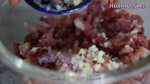 Đam Mê Ẩm Thực Cho-200g-Thịt-Heo-cắt-hạt-lựu-1-tsp-Tỏi-băm-1-tsp-Hành-Tím-băm2-dammeamthuc.com_