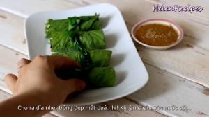 Đam Mê Ẩm Thực Cho-Cuốn-Diếp-ra-đĩa-và-dùng-kèm-với-Sốt-chấm-pha-đặc-biệt-dammeamthuc.com_