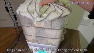Đam Mê Ẩm Thực Cho-bánh-vào-nồi-đã-lót-giấy-và-hấp-trong-25-phút-dammeamthuc.com_