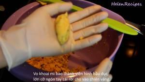 Đam Mê Ẩm Thực Nặn-hỗn-hợp-bột-thành-từng-viên-hình-bầu-dục-dammeamthuc.com_