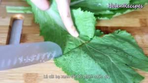 Đam Mê Ẩm Thực Rau-Cải-xanh-lá-bẹ-rửa-sạch-loại-bỏ-cuống-dammeamthuc.com_