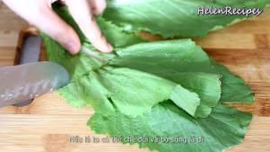 Đam Mê Ẩm Thực Rau-Cải-xanh-lá-bẹ-rửa-sạch-loại-bỏ-cuống2-dammeamthuc.com_