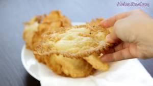 Đam Mê Ẩm Thực Sau-khi-chiên-xong-cho-bánh-ra-đĩa-và-thưởng-thức2-dammeamthuc.com_