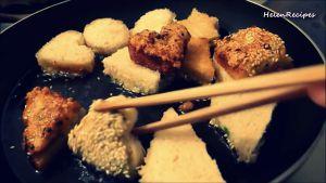 Đam Mê Ẩm Thực Sau-khi-nóng-hạ-lửa-nhỏ-cho-Bánh-Mì-mặt-có-hỗn-hợp-tôm-chiên-trước2-dammeamthuc.com_