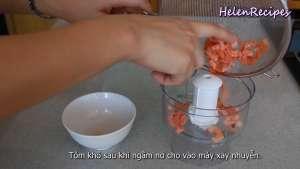 Đam Mê Ẩm Thực Tôm-sau-khi-ngâm-nở-cho-vào-máy-và-xay-nhuyễn2-dammeamthuc.com_