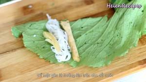 Đam Mê Ẩm Thực Trải-lá-Cải-xanh-để-mặt-gân-lá-lên-trên4-dammeamthuc.com_