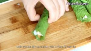 Đam Mê Ẩm Thực Trải-lá-Cải-xanh-để-mặt-gân-lá-lên-trên7-dammeamthuc.com_
