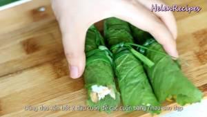 Đam Mê Ẩm Thực Trải-lá-Cải-xanh-để-mặt-gân-lá-lên-trên8-dammeamthuc.com_