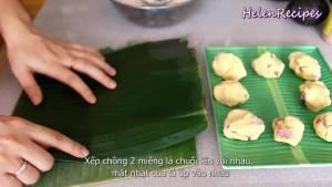 Đam Mê Ẩm Thực Xếp-chồng-2-miếng-lá-chuối-lên-với-nhau-dammeamthuc.com_