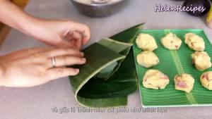Đam Mê Ẩm Thực Xếp-chồng-2-miếng-lá-chuối-lên-với-nhau5-dammeamthuc.com_