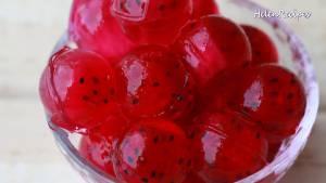 Đam Mê Ẩm Thực Cho-Pudding-Bơ-vào-giữa-bát-sắp-từng-viên-Thạch-la-lê-trang-trí2-dammeamthuc.com_