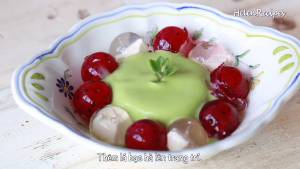 Đam Mê Ẩm Thực Cho-Pudding-Bơ-vào-giữa-bát-sắp-từng-viên-Thạch-la-lê-trang-trí5-dammeamthuc.com_